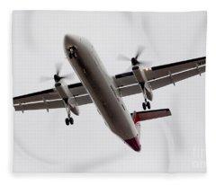 Bombardier Dhc 8 Fleece Blanket