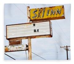 Bombay Beach Abandoned Ski Inn Fleece Blanket