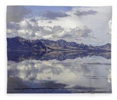 Bonneville Salt Flats Fleece Blanket