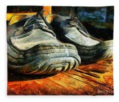 Boogie Shoes - Walking Story - Drawing Fleece Blanket