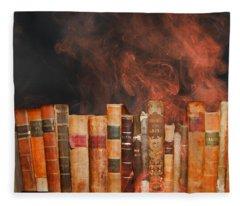 Book Burning Inspired By Fahrenheit 451 Fleece Blanket