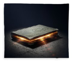 Book With Magic Powers Fleece Blanket