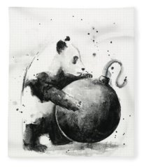 Boom Panda Fleece Blanket