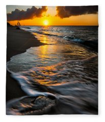 Boracay Sunset Fleece Blanket