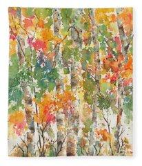 Boreal Brilliance Deep Woods Fleece Blanket