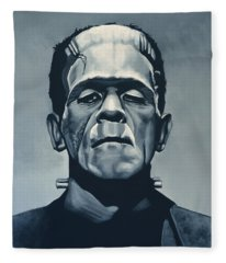 Boris Karloff As Frankenstein  Fleece Blanket