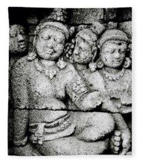 Borobudur Harmony Fleece Blanket