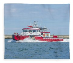 Boston Fire Marine 1 Fleece Blanket