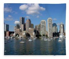 Boston Habor Skyline Fleece Blanket