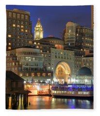 Boston Harbor Party Fleece Blanket