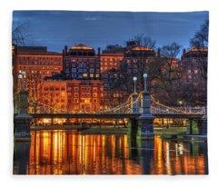 Boston Public Garden Lagoon Fleece Blanket