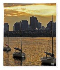 Boston Sunrise Fleece Blanket