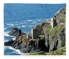 Botallack Crown Engine Houses Cornwall Fleece Blanket