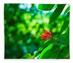 Botanical Garden Butterfly Fleece Blanket