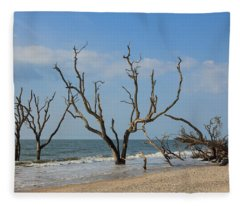 Botany Beach Fleece Blanket
