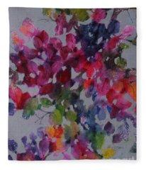 Bougainvillea Fleece Blanket