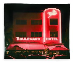 Boulevard Hotel Fleece Blanket