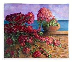 Bountiful Bougainvillea Fleece Blanket