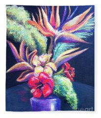 Bouquet With Bird Of Paradise Fleece Blanket