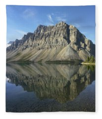 Bow Lake And Crowfoot Mts Banff Fleece Blanket