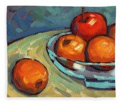 Bowl Of Fruit 2 Fleece Blanket