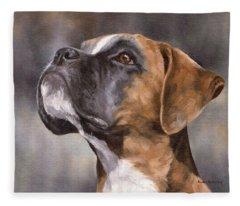 Boxer Painting Fleece Blanket