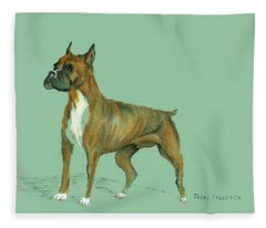 Boxer Fleece Blanket