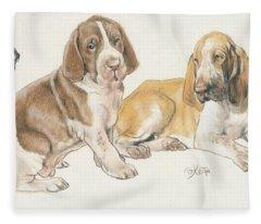 Bracco Italiano Puppies Fleece Blanket