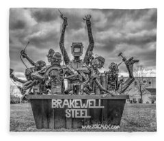 Brakewell Steel Fleece Blanket