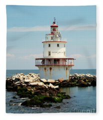Brandywine Shoal  Lighthouse Fleece Blanket