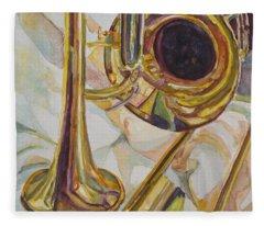 Trombone Fleece Blankets