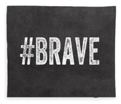 Brave Card- Greeting Card Fleece Blanket