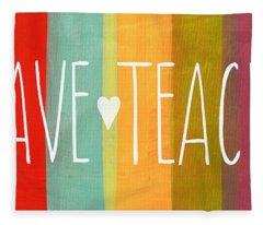 Brave Teacher Fleece Blanket