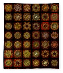 Breakfast Bagels Dingbat Quilt Fleece Blanket