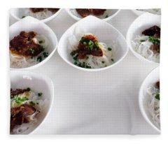 Breakfast Pho Viet Nam Fleece Blanket