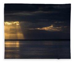 Breaking Clouds Over Mount Susitna Fleece Blanket