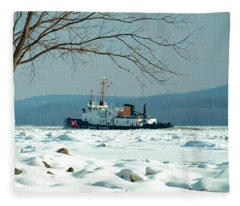 Breaking Ice Fleece Blanket
