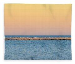 Breaking The Sunset Fleece Blanket