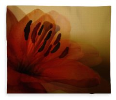 Breath Of The Lily Fleece Blanket