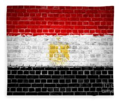 Brick Wall Egypt Fleece Blanket