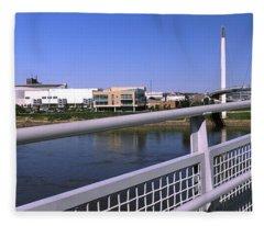 Bridge Across A River, Bob Kerrey Fleece Blanket