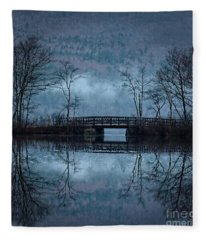 Bridge At Chocorua Fleece Blanket