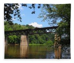Bridge Crossing The Potomac River Fleece Blanket