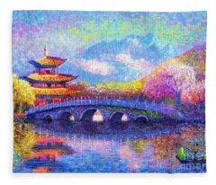 Bridge Of Dreams Fleece Blanket