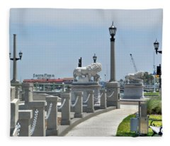 Bridge Of Lions Fleece Blanket
