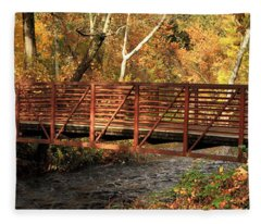 Bridge On Big Chico Creek Fleece Blanket