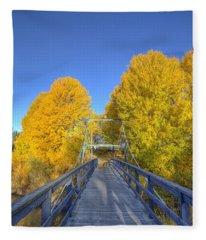 Bridge To Autumn Fleece Blanket