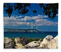 Bridge To The U.p. Fleece Blanket