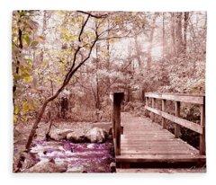 Bridge To Utopia  Fleece Blanket