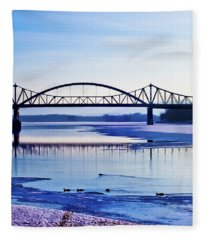 Bridges Over The Mississippi Fleece Blanket